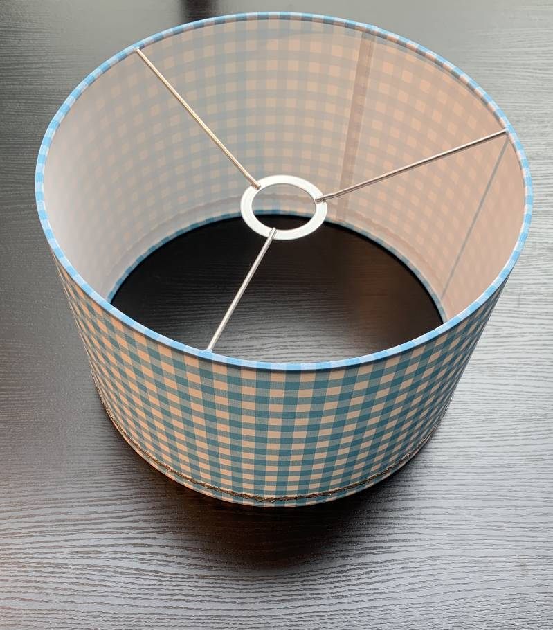 LITTLE DUTCH HANGLAMP TURQUOISE CHECK