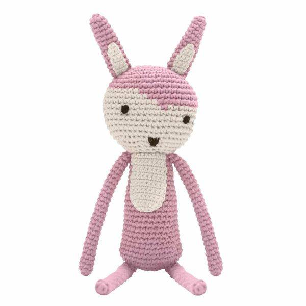 SEBRA CROCHET ANIMAL RABBIT PINK