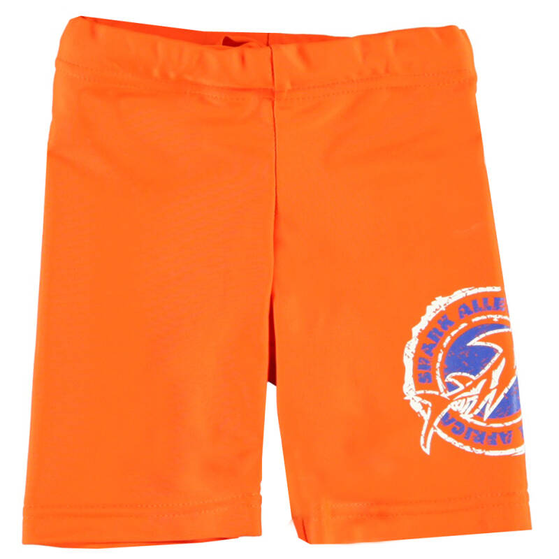SONPAKKIE UV SWIMSHORT BIG SHARK ORANJE 4-5 JAAR