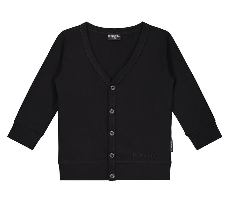 ZWARTE CARDIGAN LUCKY NO.7