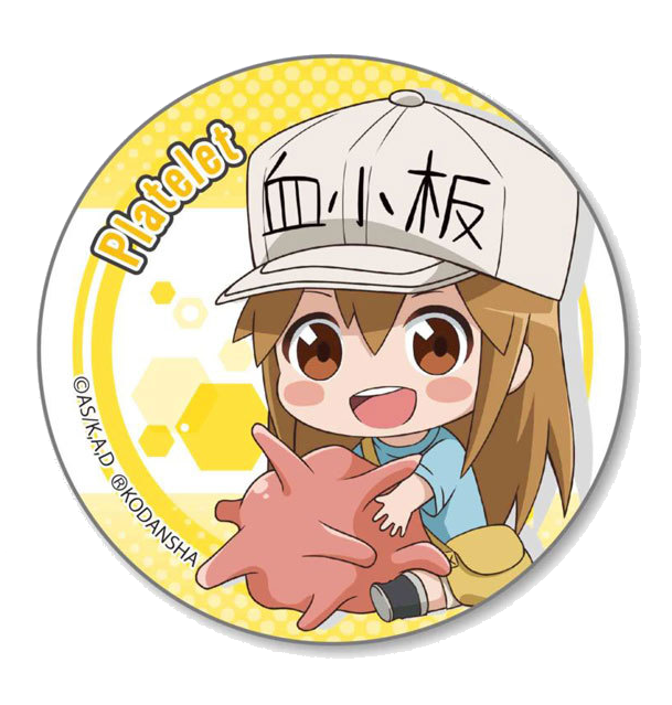 Cells at Work! badge - Platelet