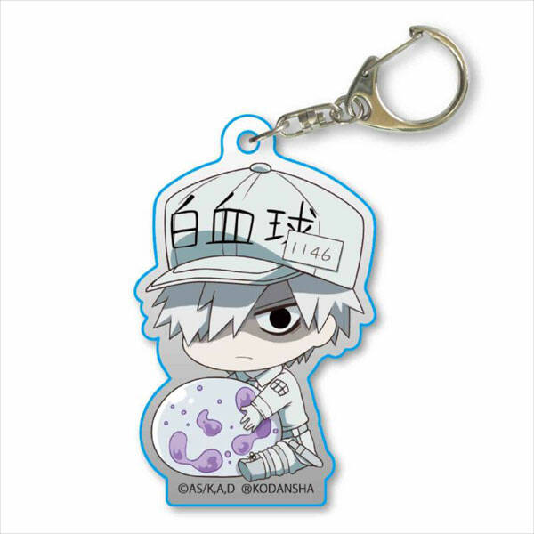 Cells at Work!: White bloodcell (Neutrophil) - keychain