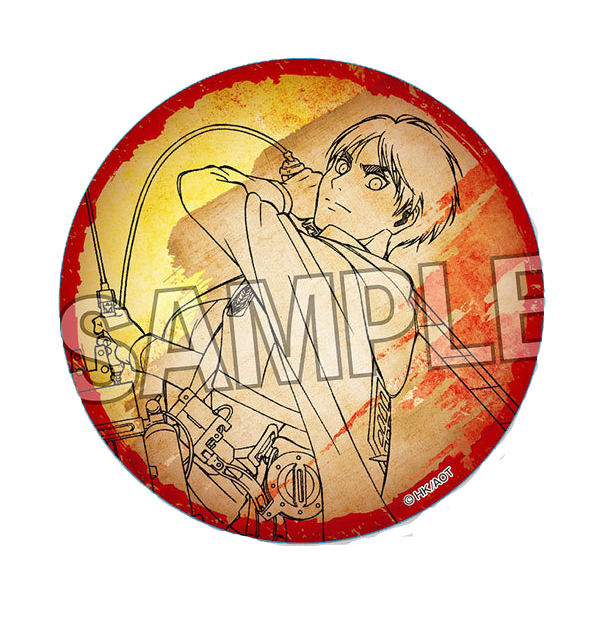 Attack on Titan: washi paper can badge - Eren Yeager