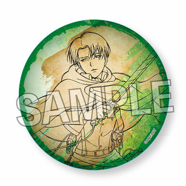 Attack on Titan: washi paper can badge - Levi Ackerman