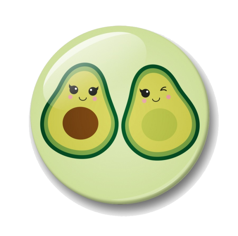 Avocado - button 32mm