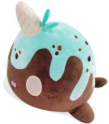 Nomwhal plushie: Chocolate mint chip