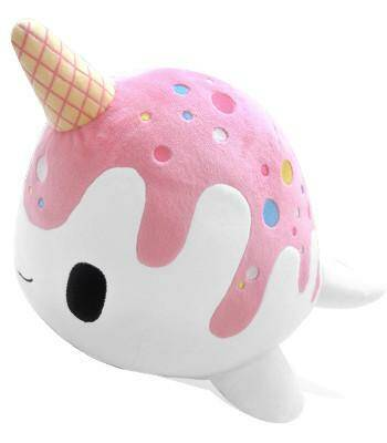 Nomwhal plushie: Vanille Strawberry