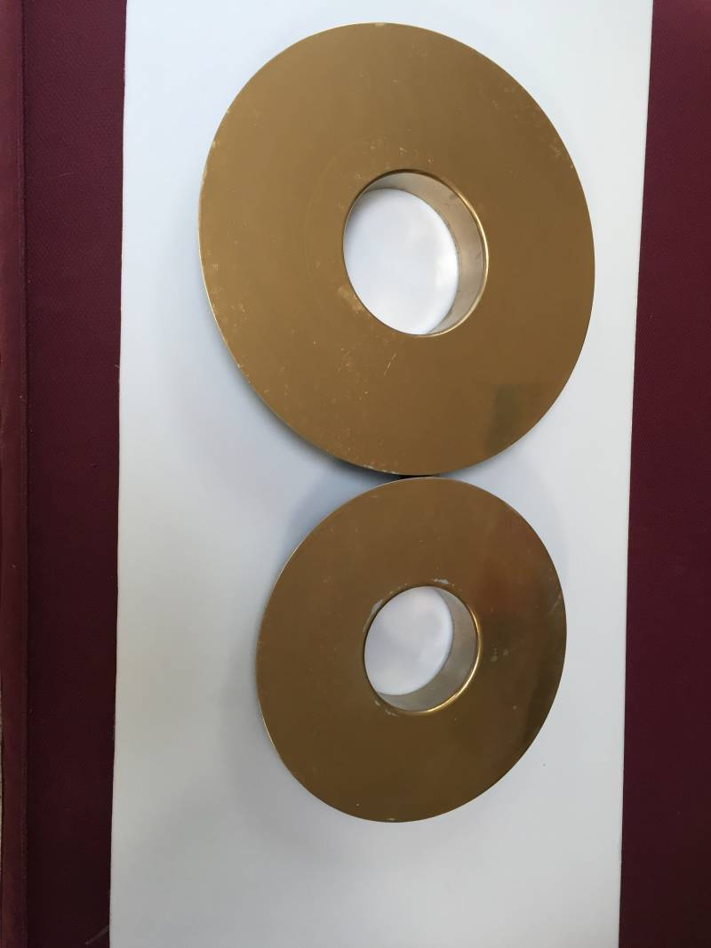 rond led lamp gold color