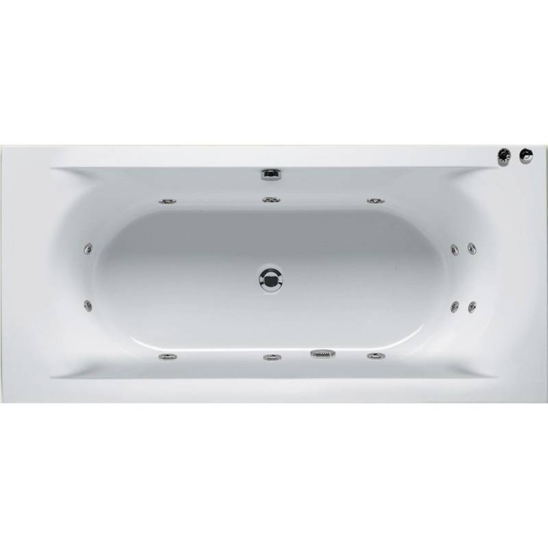 Whirlpool bad Lima 180x80 cm glans wit