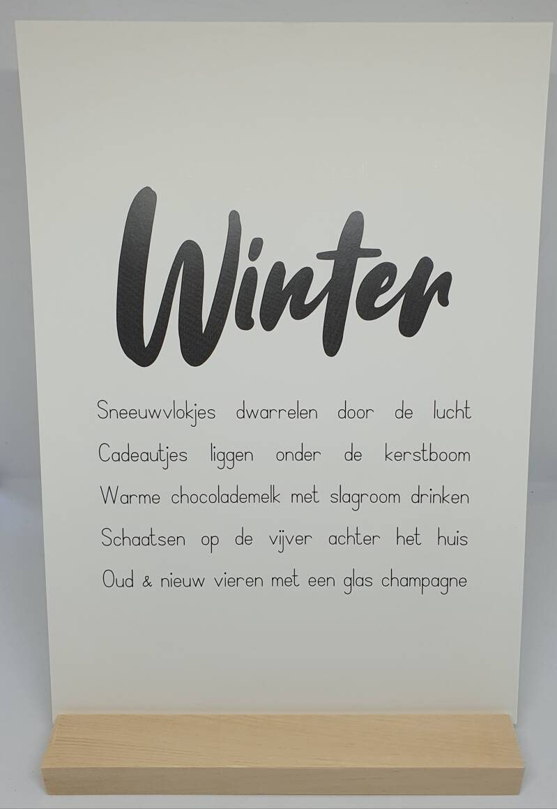 A4 poster winter