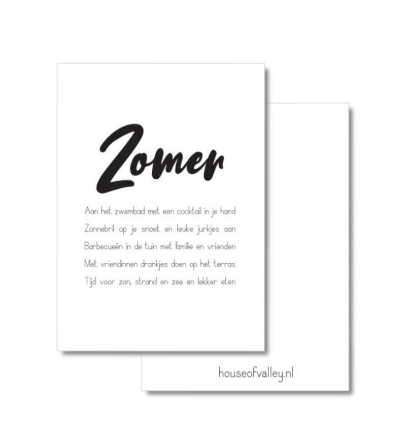 A4 poster zomer