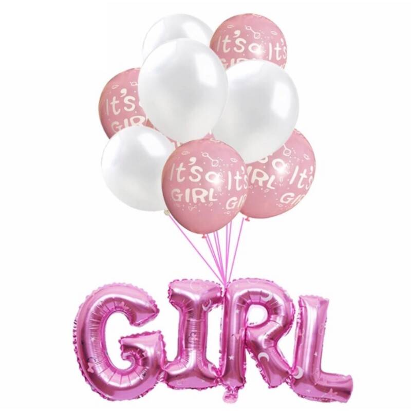 Babyshower Versiering Pakket - It's a Girl - 9 stuks