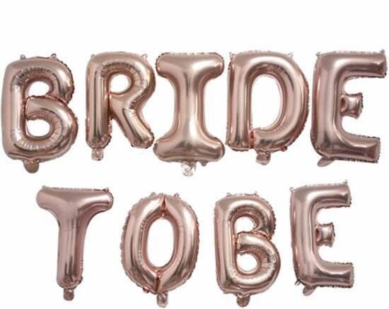 Bride To Be Folie ballonnen Rose Rosegold