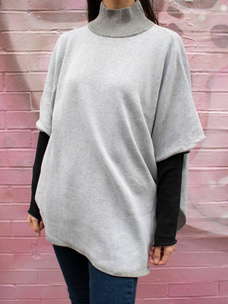 Recycled Knit Poncho