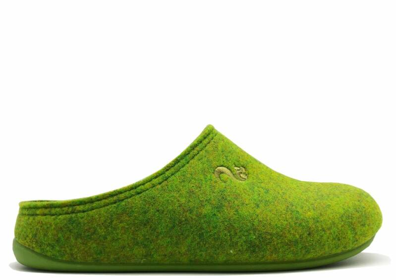 Thies ® Gerecyclede PET-pantoffel vegan pistachio (W / M)