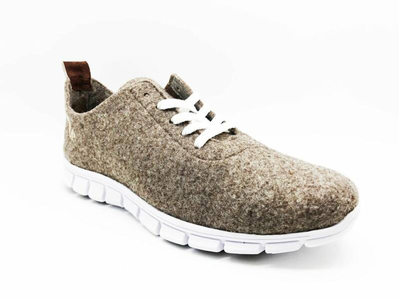 thies ® PET sneaker marron | vegan gemaakt van gerecyclede flessen