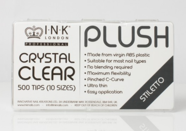 Plush Tips - Stiletto Crystal Clear - Box
