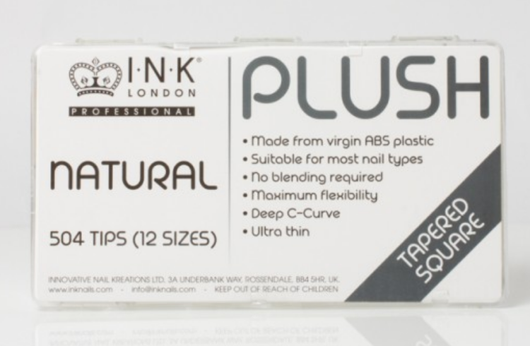 Plush Tips - Tapered Square Natural - Box