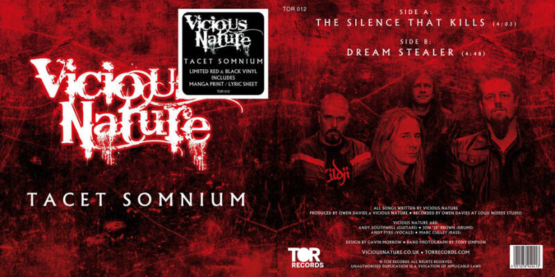 Vicious Nature TACET SOMNIUM LIMITED EDITION 7'' VINYL SINGLE