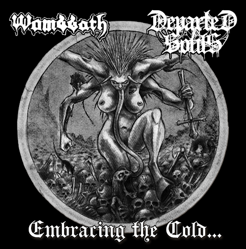 WOMBATH-DEPARTED SOULS Split embracing the cold… CD