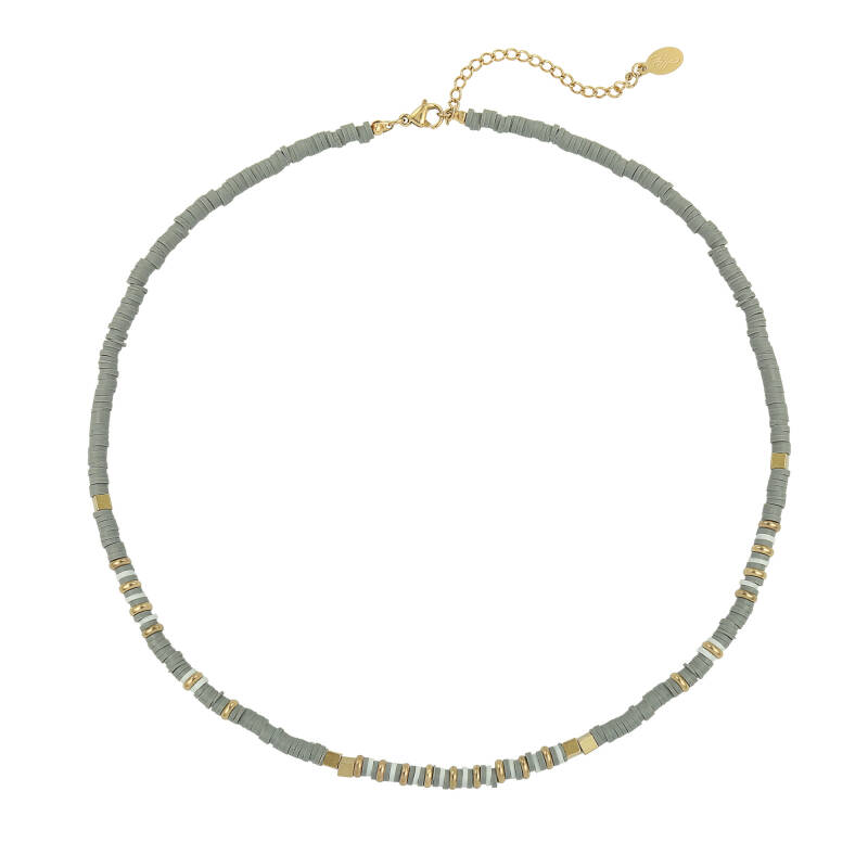 Beads necklace - Grey