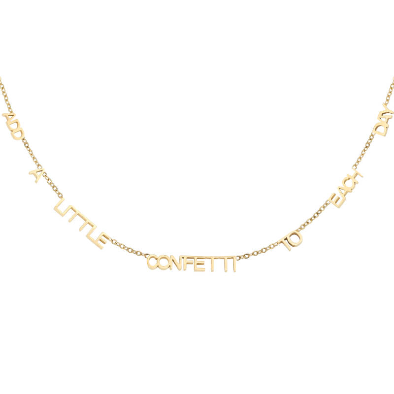 Add a little confetti to each day necklace - Gold