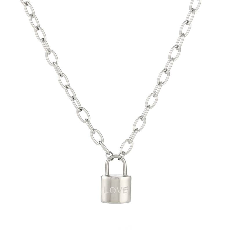 Lock necklace - Silver