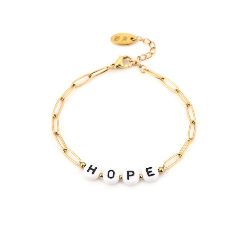 Hope chain bracelet - Gold
