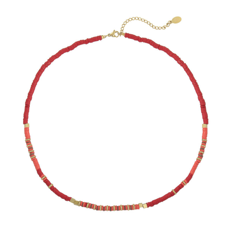Beads necklace - Red