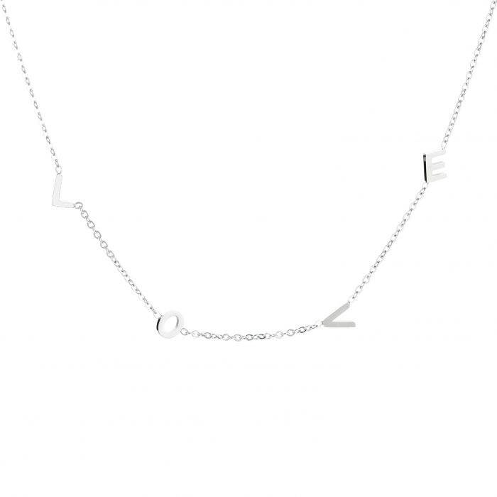 L O V E necklace - Silver