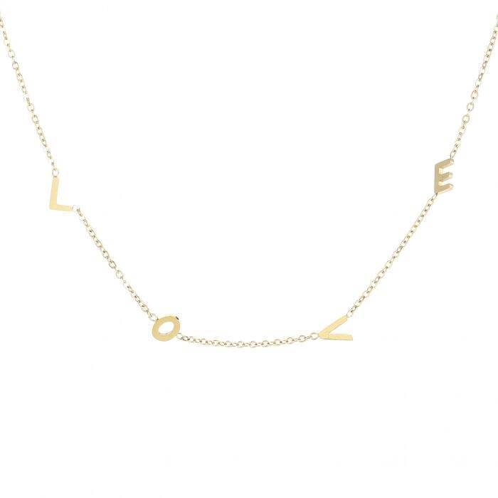 L O V E necklace - Gold