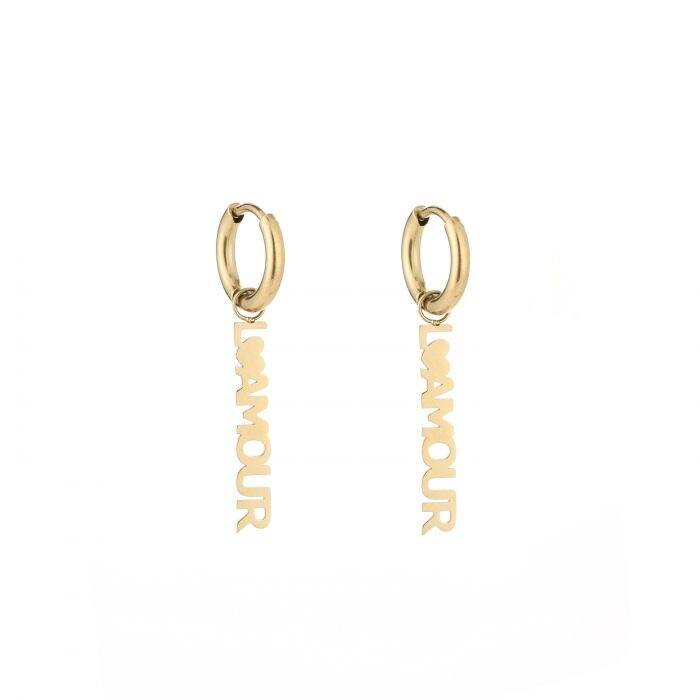 L'amour earrings - Gold