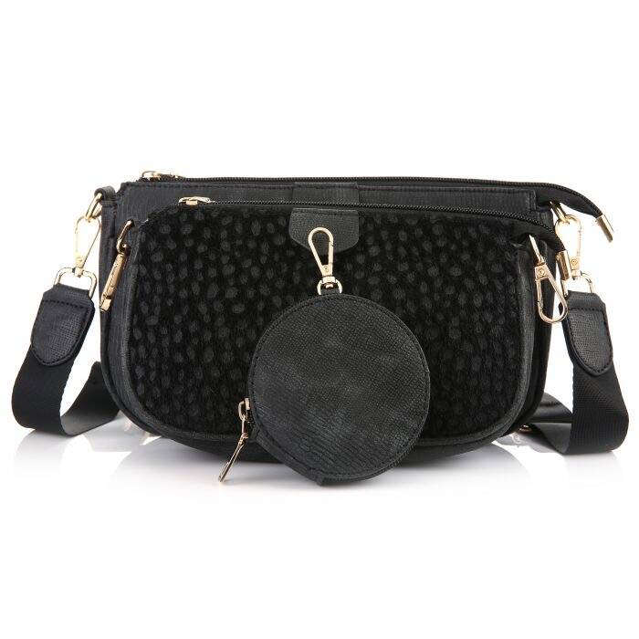 Multi bag Cheetah - Black