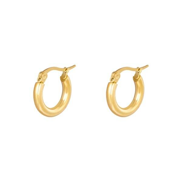 Smooth hoops - Gold