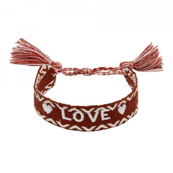 Love woven bracelet - Brown