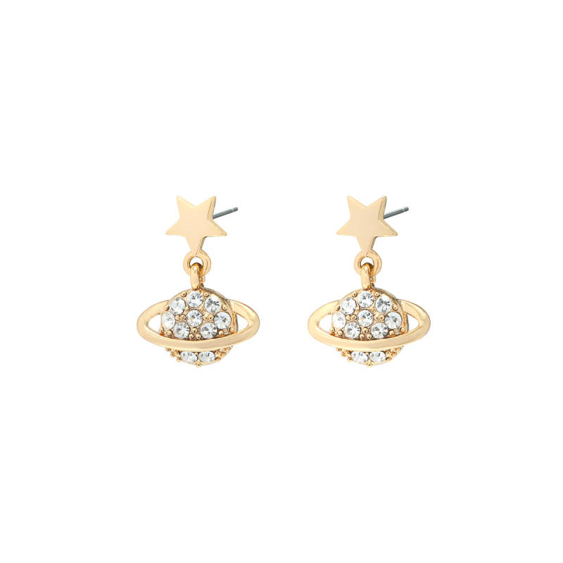 Planet earrings - Gold