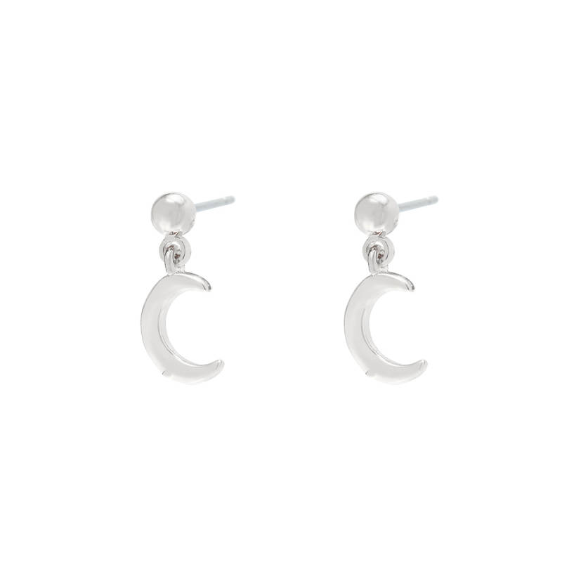 Moon earrings - Silver