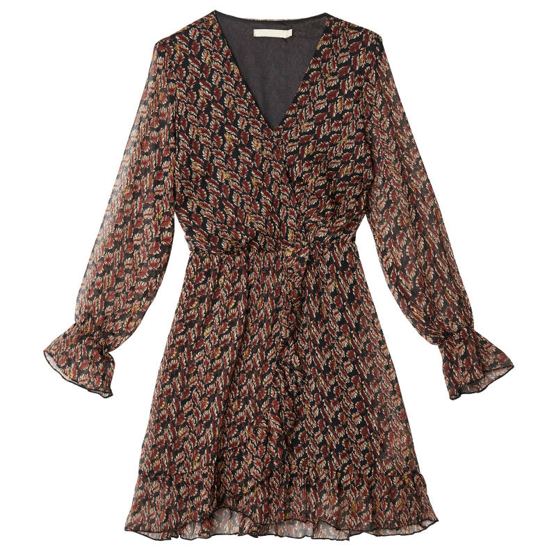 Leaf dress - Brown