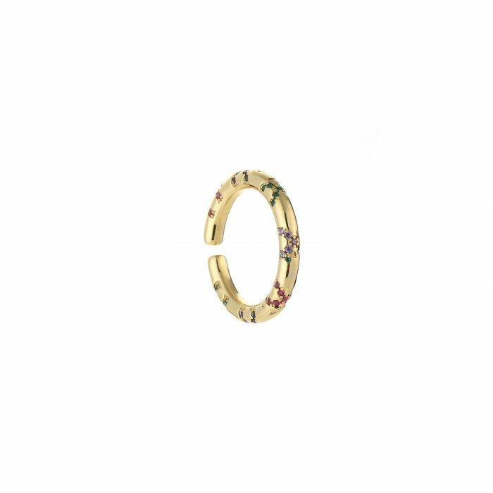 Colourful ring - Gold