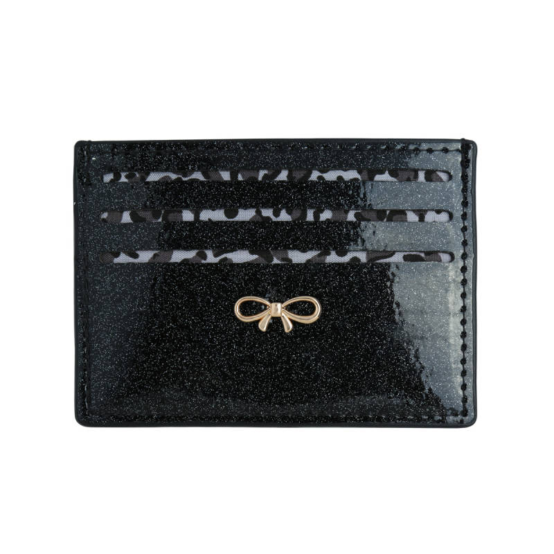 Glitter card holder - Black