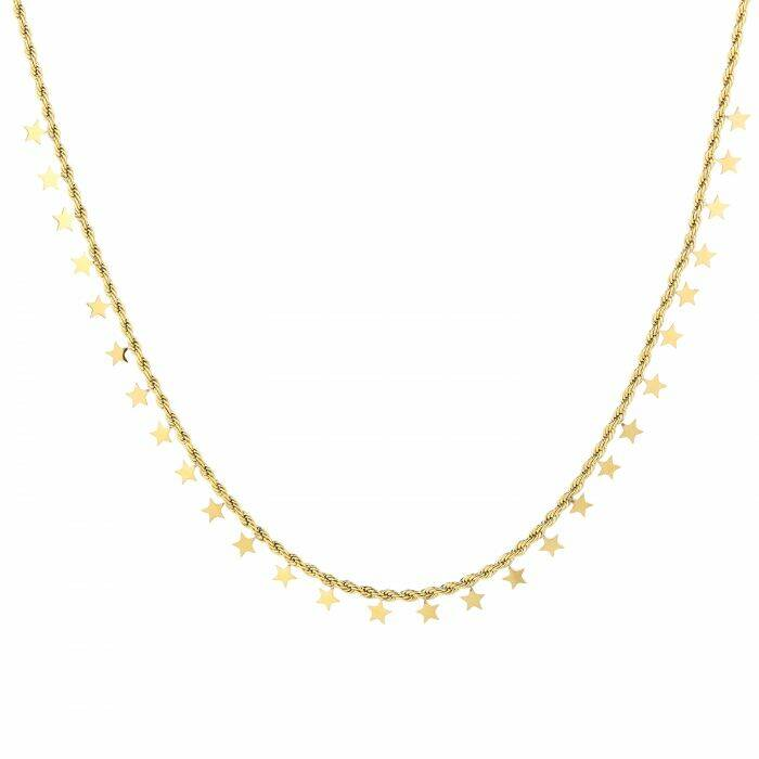 Twisted stars necklace - Gold