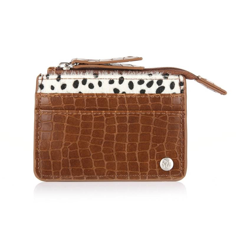 Cheetah cardholder - Brown
