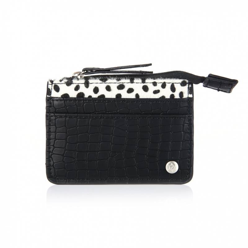 Cheetah cardholder - Black
