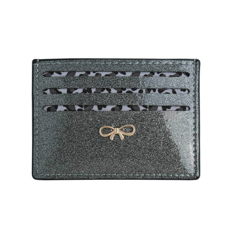 Glitter card holder - Grey