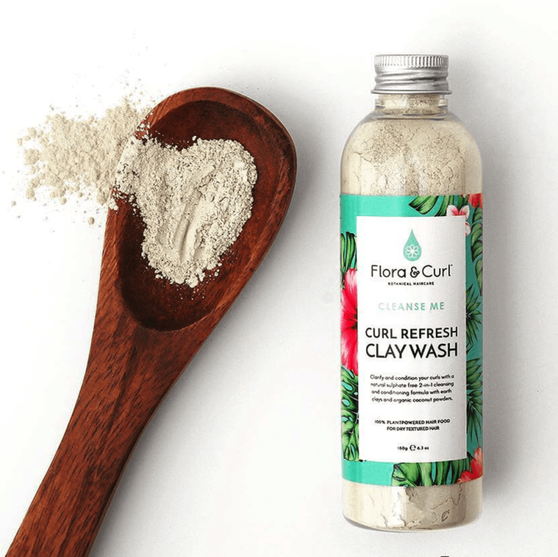 Flora & Curl Coconut Mint Curl Refresh Clay Wash, 240 gr*