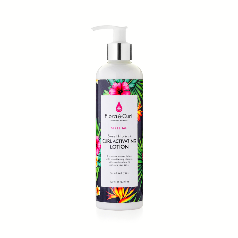 Flora & Curl Sweet Hibiscus Curl Activating Lotion, 300 ml