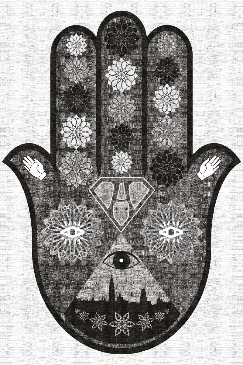 """Hand of """"A"""" Visual Identity Canvas Print"""