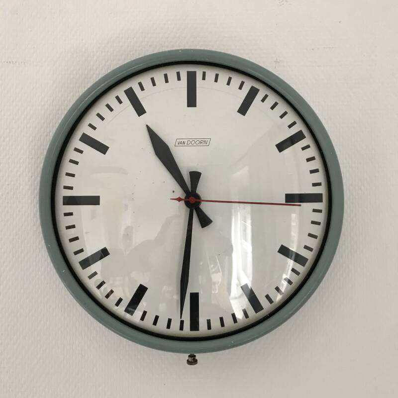 Vintage industrial design VanDoorn School clock
