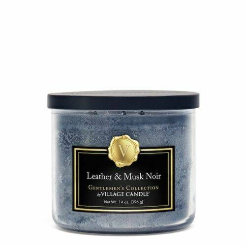 Village Candle Leather & Musk Noir Gentleman's Collection