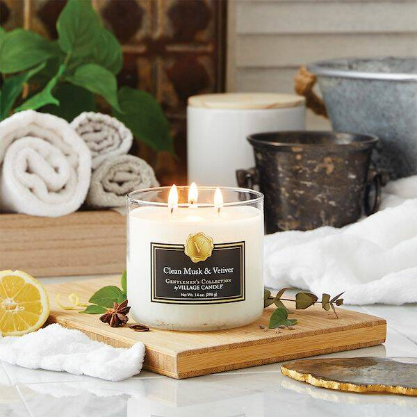 Village Candle Clean Musk & Vetiver Gentleman's Collection